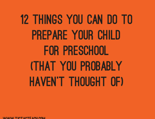 12 Things You Can Do to Prepare your Child for Preschool (That you Probably Haven't Thought Of)